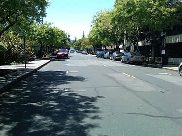 Downtown Los Altos, close to Los Altos Hills