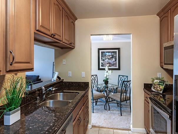 Remodeled kitchen at Murieta in Newark