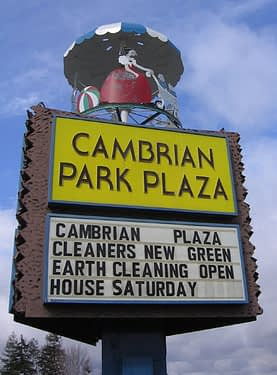 Sign at Cambrian Park Plaza in San Jose