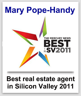 Mary Pope-Handy named Mercury News Best real estate agent in Silicon Valley 2011, runner up in 2021