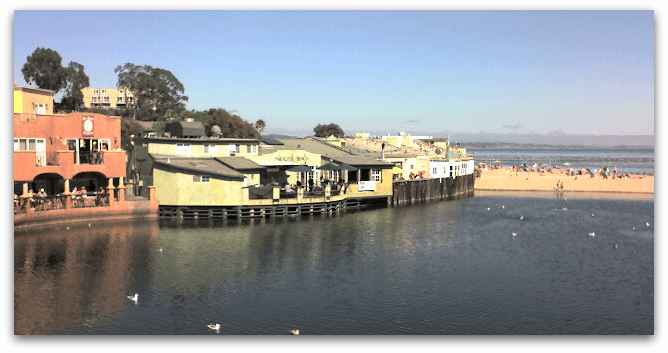 Capitola view from the bridge