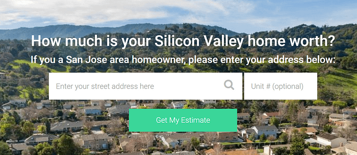 CLICK to complete the form - how much is your home worth?