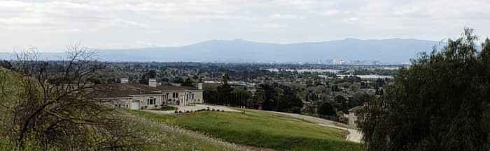 Luxury home in Milpitas foothills - view of the valley and downtown San Jose
