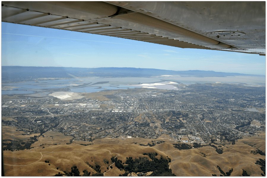 Aerial view of Fremont CA courtesy of John Handy