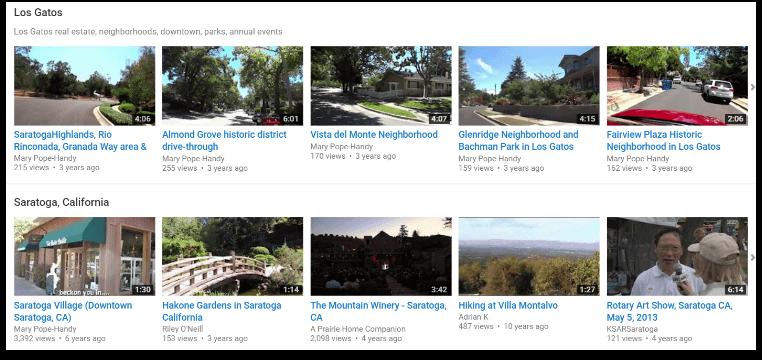 Los Gatos neighborhood videos - Mary Pope-Handy YouTube Channel