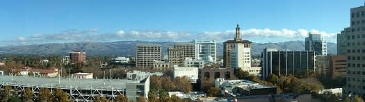 Downtown San Jose - view of high rise buildings