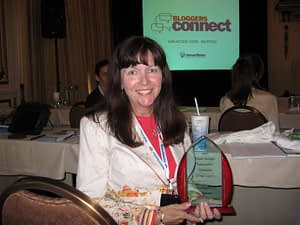 Mary Pope-Handy winning Project Blogger Award from Inman News and Active Rain in 2007 - the first award for her real estate blogs