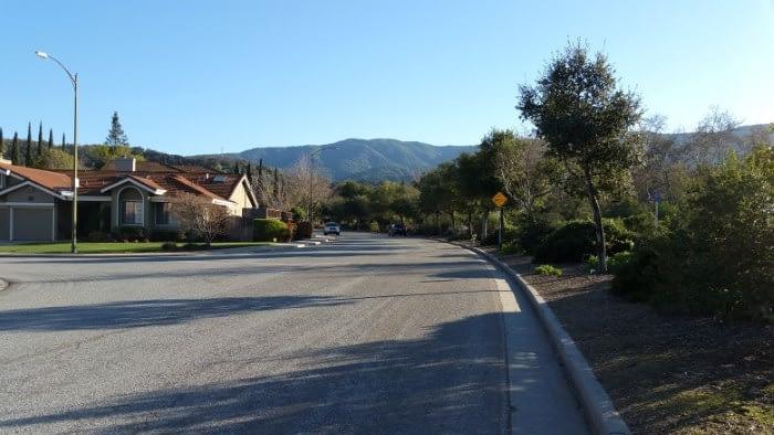 Oak Canyon street in Almaden Valley