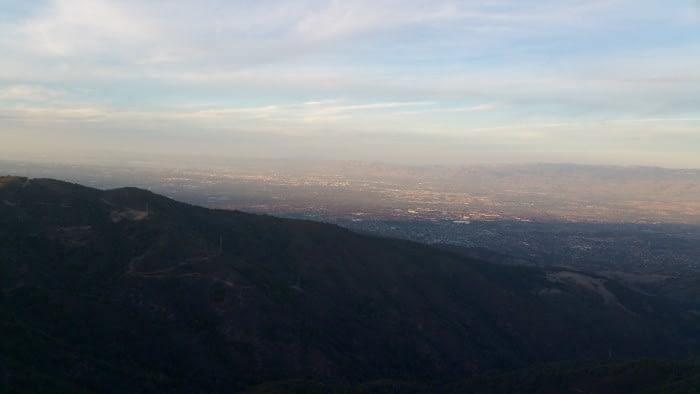 Views from Mount Umunhum of the Santa Clara Valley (November 2017)