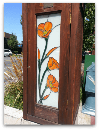 Menlo Park stained glass poppies